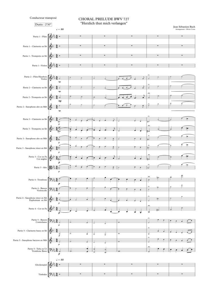 Choral bwv 727 - Flex