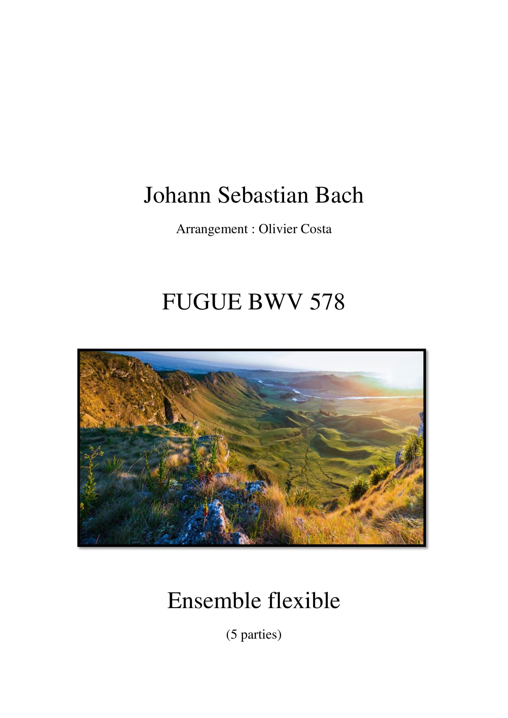 Fugue bwv 578 - Orchestration flexible