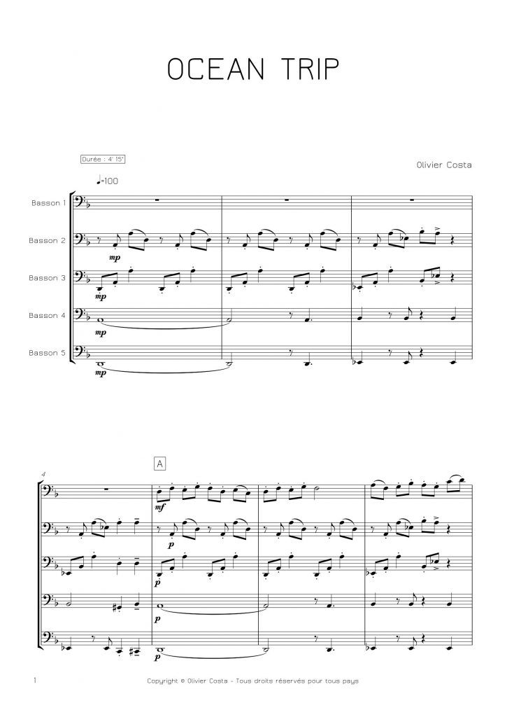 Quintette de bassons