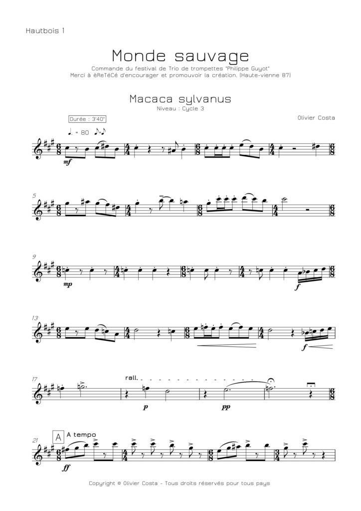 Trios de hautbois